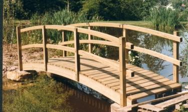 Sarl sciebois - Passerelle en bois pour jardin ...