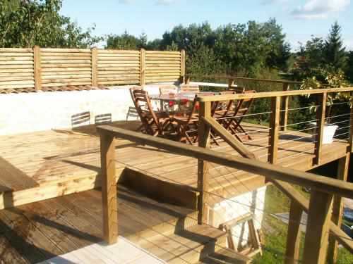 Nivrem com = Terrasse Bois Barriere ~ Diverses idées de conception de patio en bois pour votre  # Barriere De Terrasse En Bois